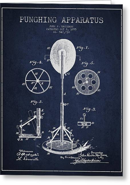 Punching Apparatus Patent Drawing From1895 Greeting Card