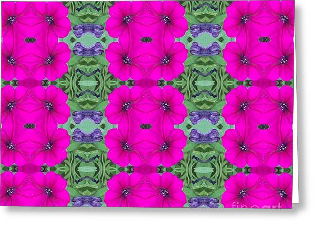Purple Passion Power Greeting Card by Annette Allman