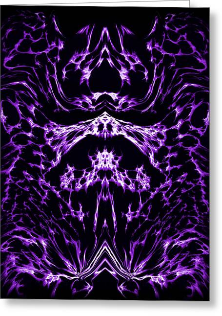 Purple Series 1 Greeting Card by J D Owen