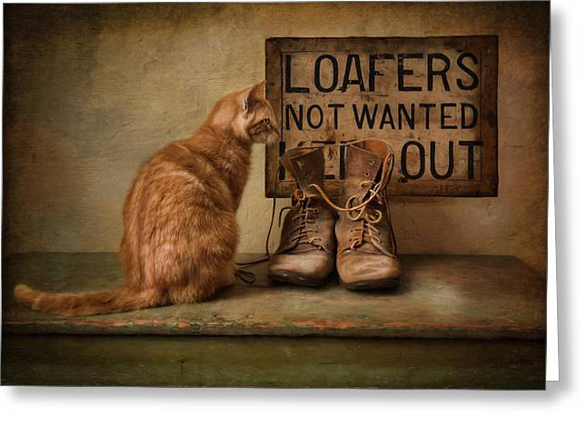 Greeting Card featuring the photograph Puss N Boots by Robin-Lee Vieira