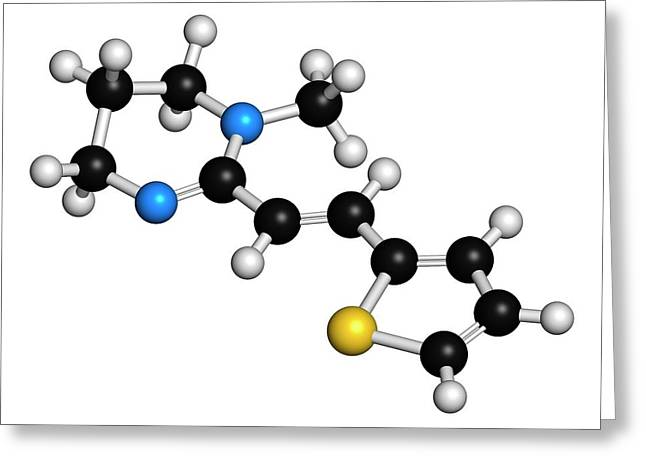 Pyrantel Antinematodal Drug Molecule Greeting Card