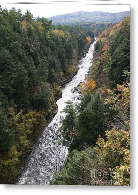 Christiane Schulze Greeting Cards - Quechee Gorge Greeting Card by Christiane Schulze Art And Photography