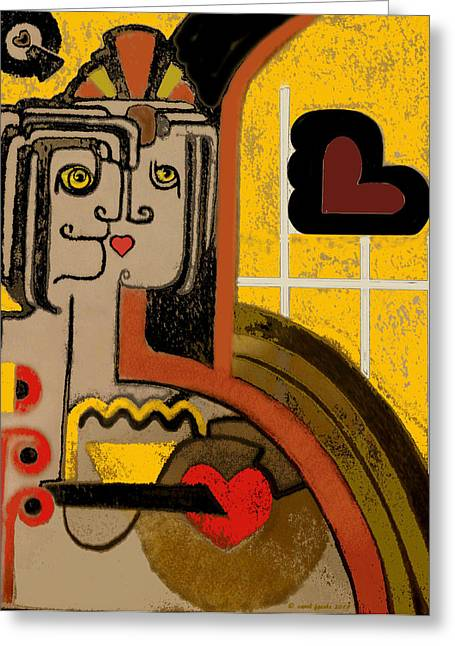 Queen Of Hearts Of Egypt Greeting Card by Carol Jacobs