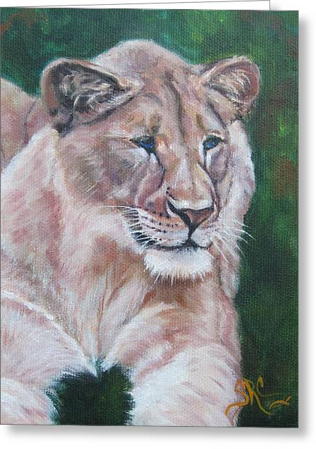 Queen Of The Beast,lioness Greeting Card