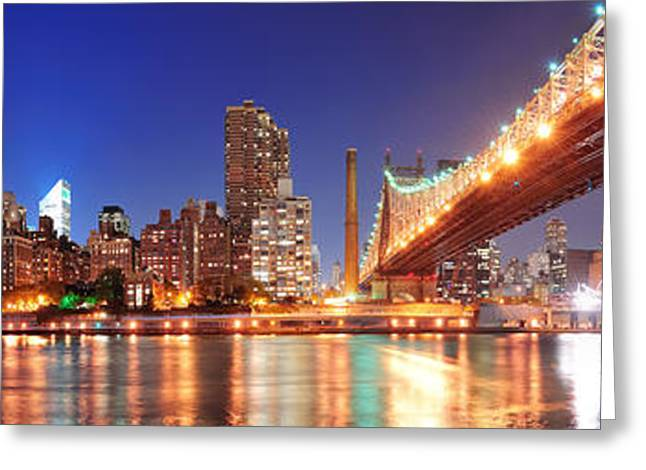 Queensboro Bridge And Manhattan Greeting Card