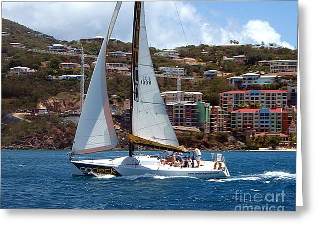 Racing At St. Thomas 1 Greeting Card