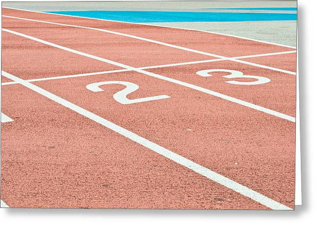 Racing Track Greeting Card by Tom Gowanlock