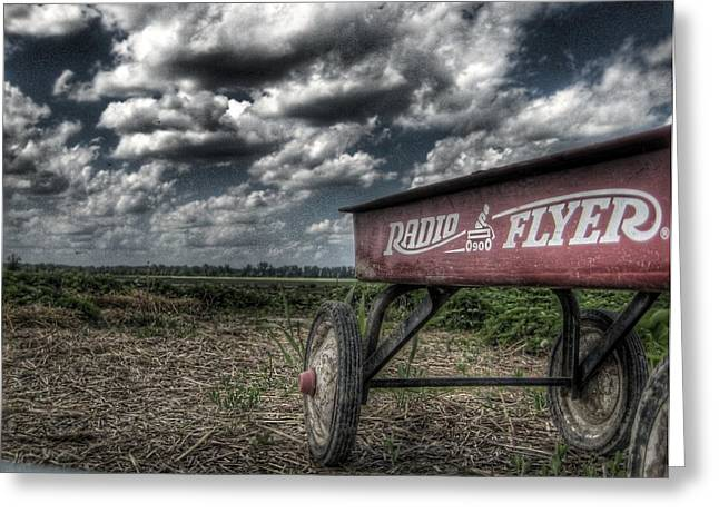 Radio Flyer Greeting Card by Jane Linders