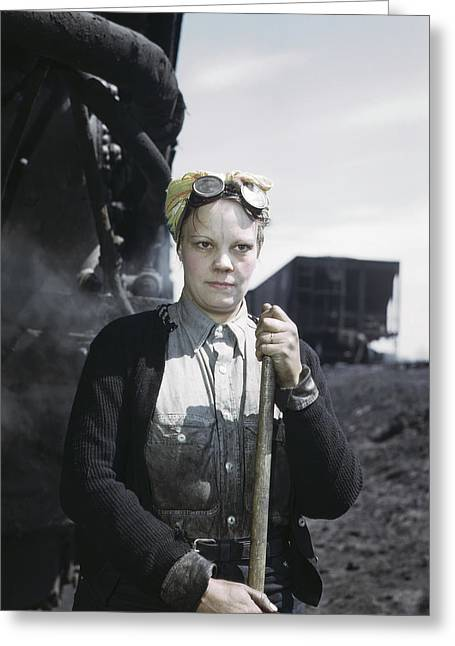 Railroad Worker, 1943 Greeting Card