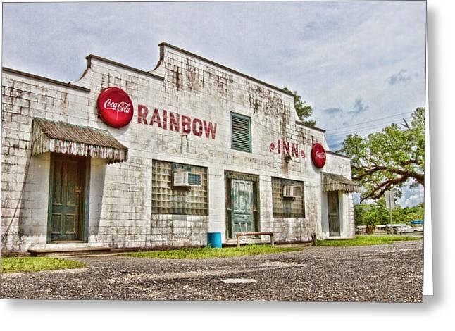 Rainbow Inn Greeting Card by Scott Pellegrin