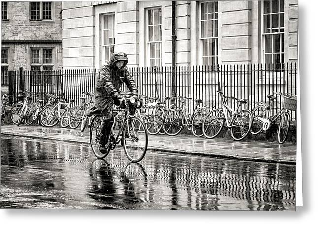 Rainy Day Ride Greeting Card by William Beuther