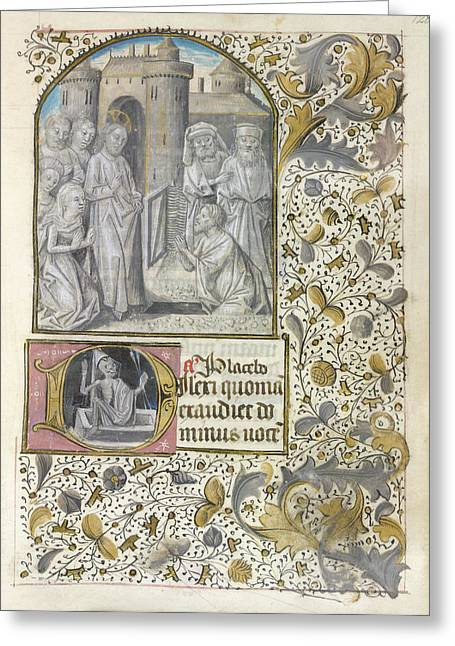 Raising Of Lazarus Greeting Card by British Library