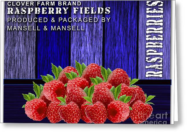Raspberry Fields Greeting Card