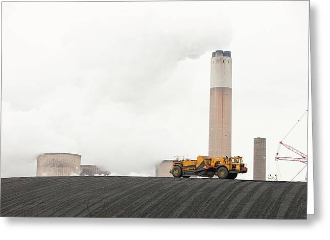 Ratcliffe On Soar Coal Power Station Greeting Card by Ashley Cooper