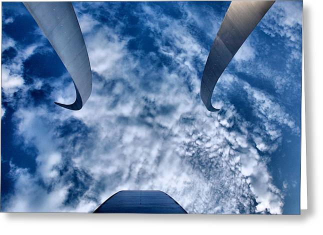 Reaching For The Sky Greeting Card by Steven Ainsworth