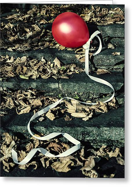 Red Balloon Greeting Card by Joana Kruse