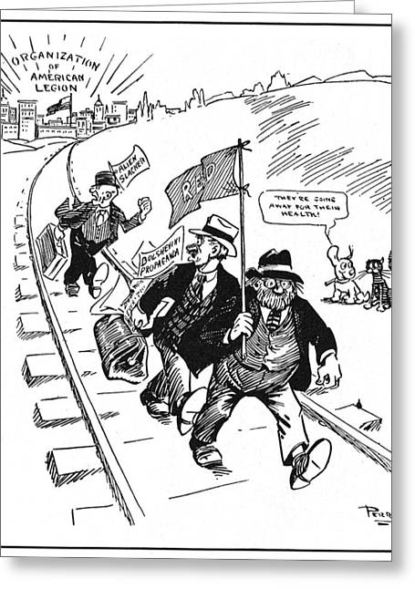 Red Scare Cartoon, 1919 Greeting Card