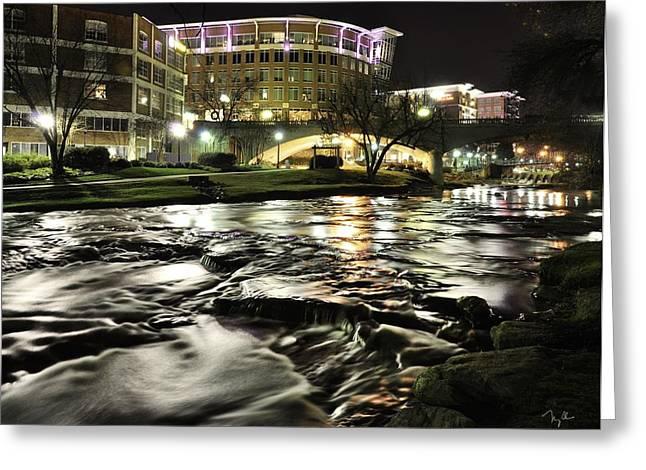 Reedy River Night Greeting Card