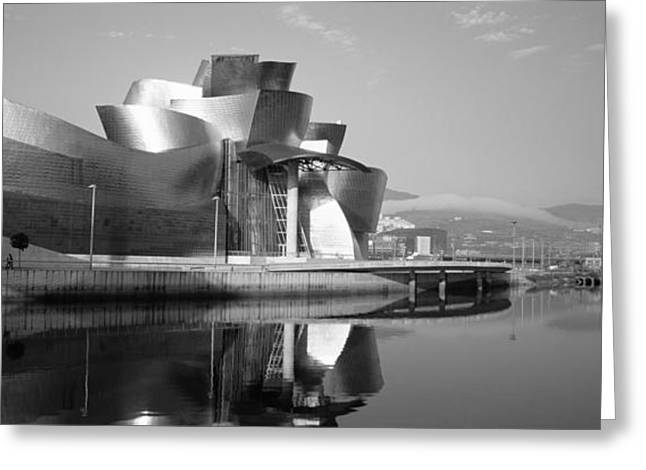 Reflection Of A Museum On Water Greeting Card