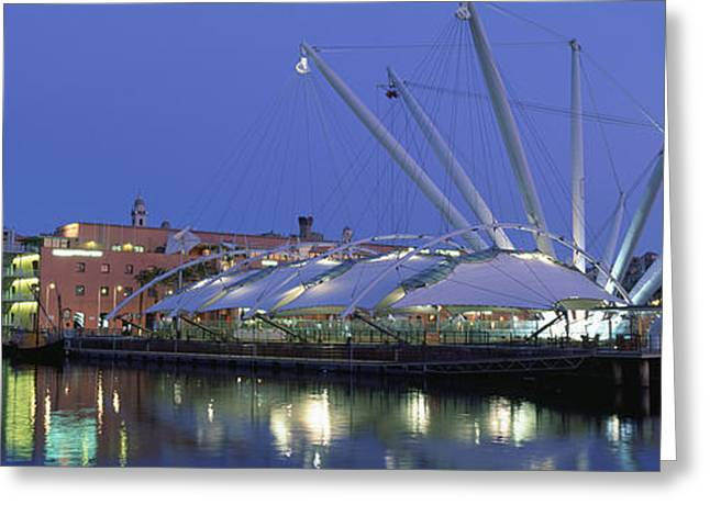 Reflection Of Buildings In Water, The Greeting Card by Panoramic Images