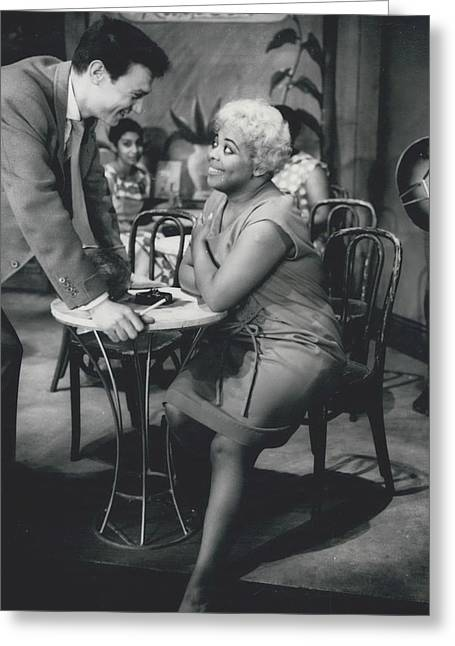 Rehearsing New Negro Musical Comedy Greeting Card by Retro Images Archive