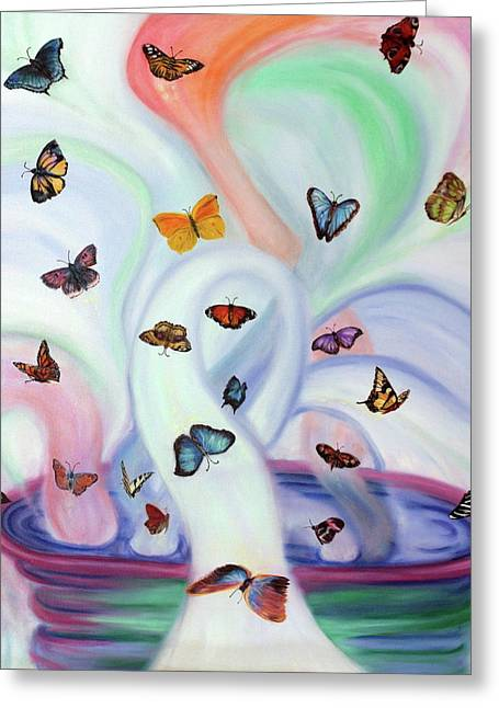 Releasing Butterflies Greeting Card by Jeanette Sthamann