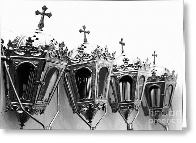 Religious Artifacts Greeting Card by Gaspar Avila