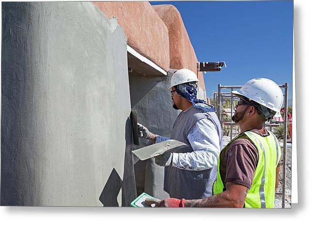 Repairing White Sands Visitor Centre Greeting Card by Jim West
