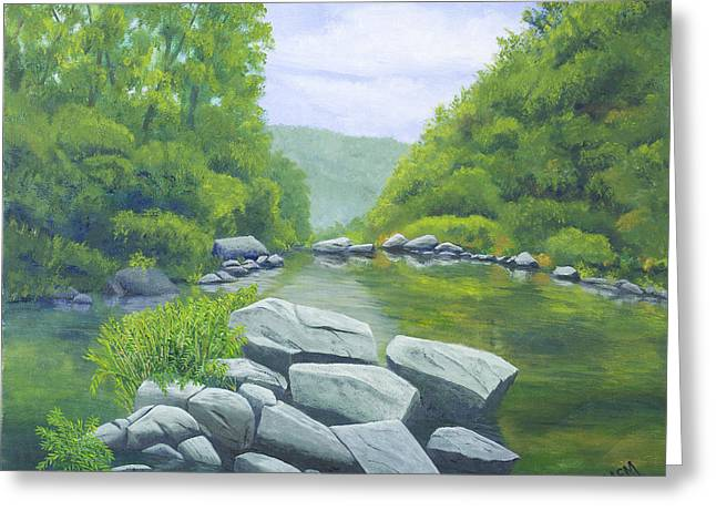 Richland Creek Greeting Card by Garry McMichael