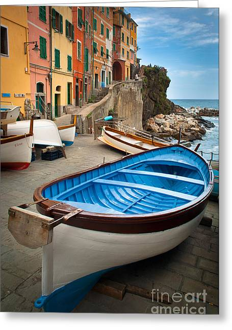 Rio Maggiore Boat Greeting Card by Inge Johnsson