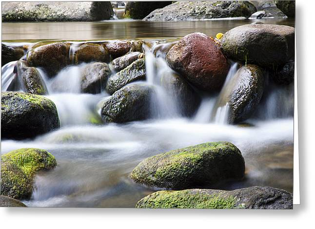 River Rocks Greeting Card by Jenna Szerlag