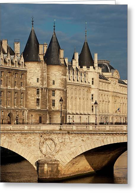 River Seine, The Conciergerie And Pont Greeting Card by Brian Jannsen