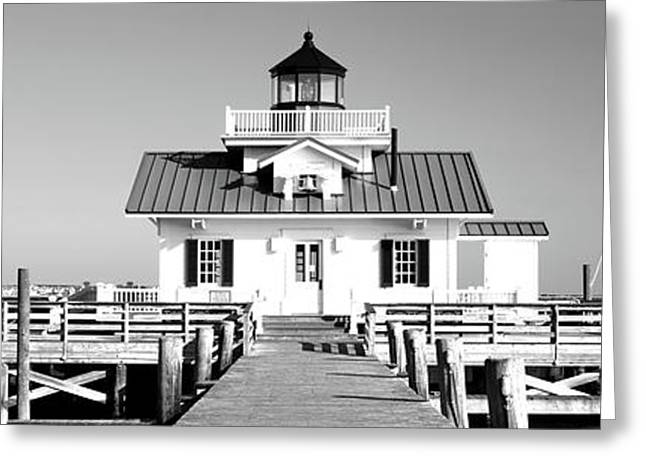 Roanoke Marshes Lighthouse, Outer Greeting Card