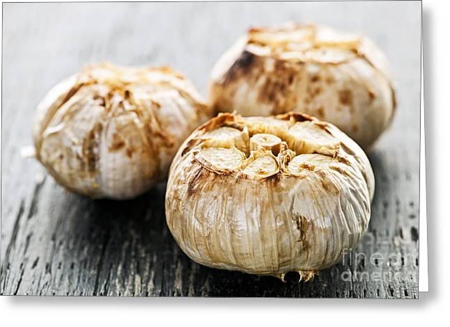 Roasted Garlic Bulbs Greeting Card