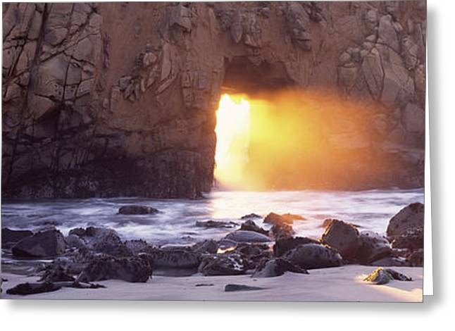 Rock Formation On The Beach, Pfeiffer Greeting Card by Panoramic Images