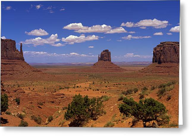 Rock Formations In A Desert Greeting Card