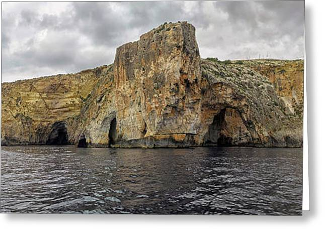 Rock Formations In Mediterranean Sea Greeting Card by Panoramic Images