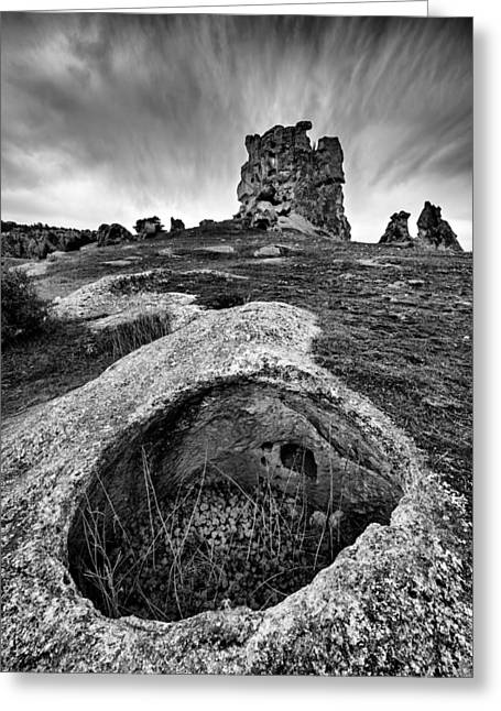 Greeting Card featuring the photograph Rock by Okan YILMAZ