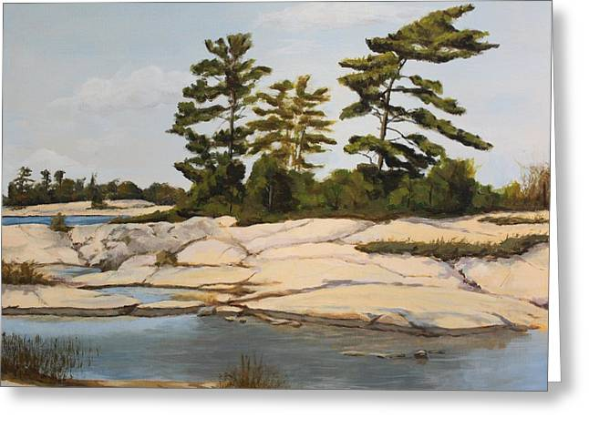 Rock Ponds. Lost Bay. Beausoleil Greeting Card by Humphrey Carter