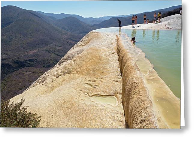 Rock Terrace And Geothermal Pool Greeting Card