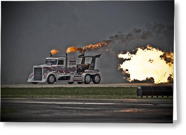 Rocket Truck Greeting Card