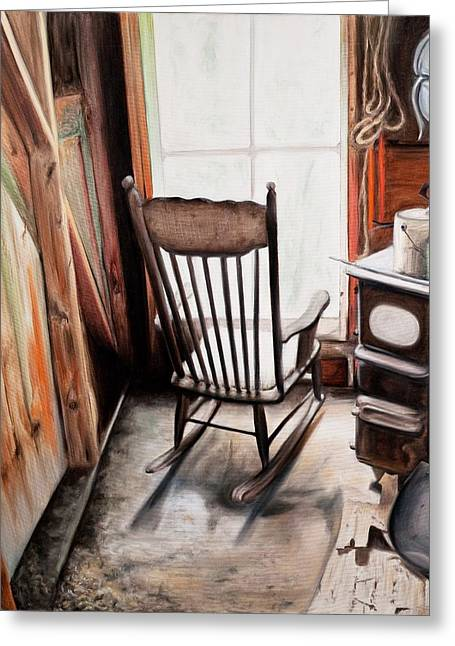 Rocking Chair Greeting Card by S Aili