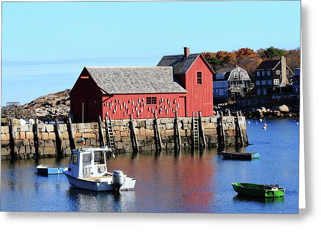 Rockport Motif Number 1 Greeting Card by Lou Ford