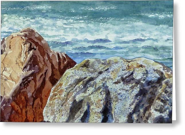 Rocks Greeting Card by Irina Sztukowski