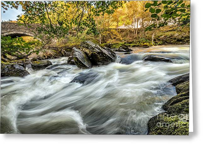 Rocky Stream Greeting Card by Adrian Evans