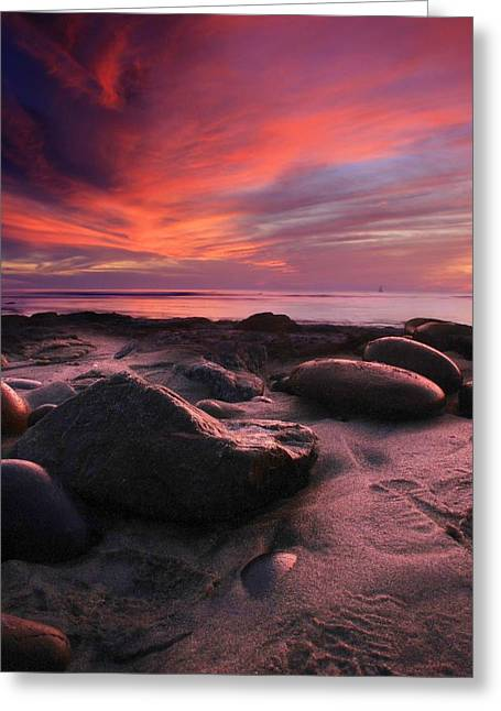 Rocky Sunset Greeting Card