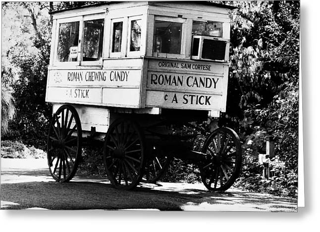 Roman Candy - Bw Greeting Card