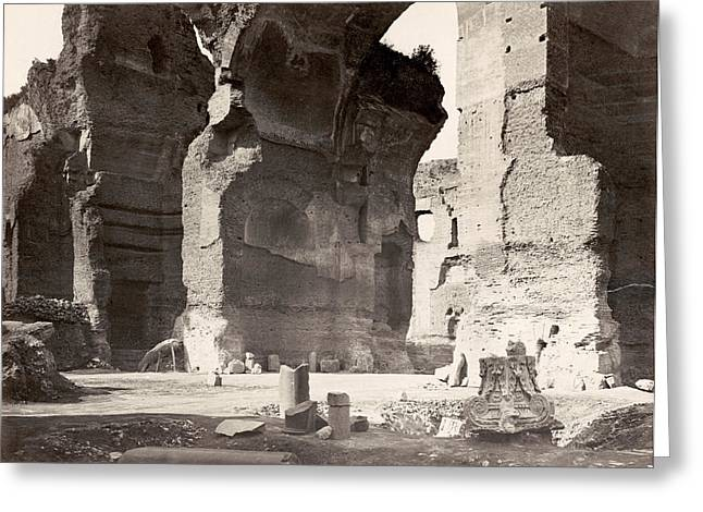 Rome Baths Of Caracalla Greeting Card