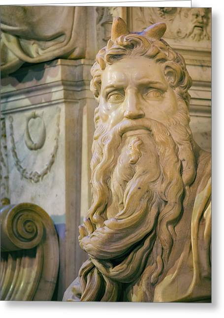 Rome, Italy. Michelangelos Moses Greeting Card by Ken Welsh