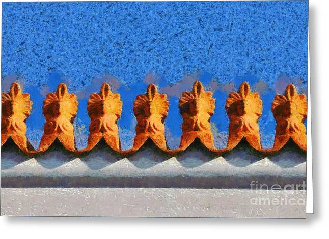 Roof Decoration Greeting Card by George Atsametakis